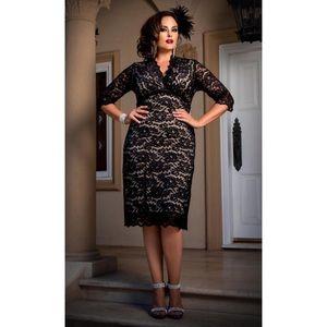 Kiyonna Scalloped Boudoir Lace Dress